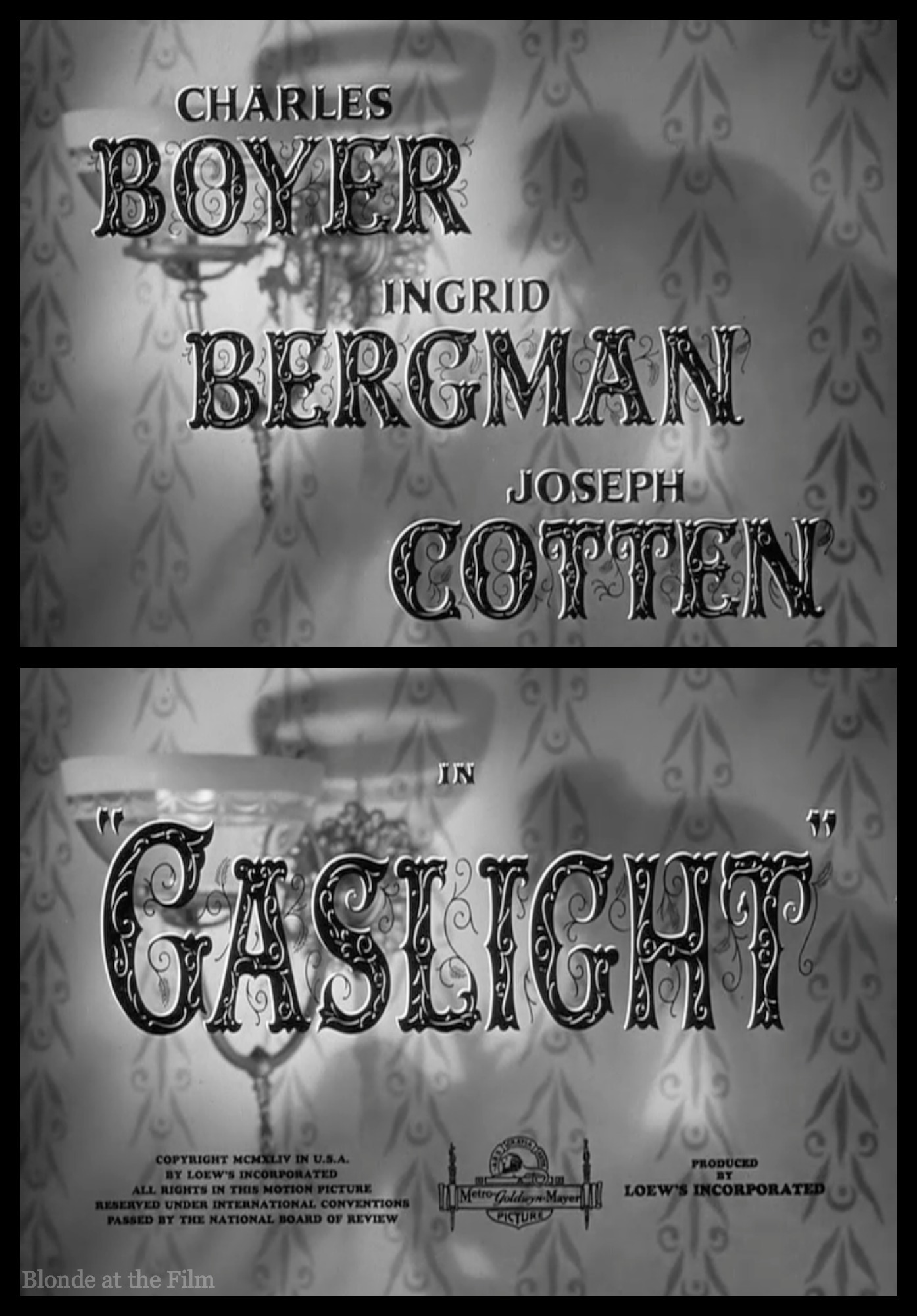 Gaslight 1944 The Blonde At The Film