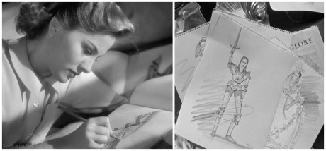 Rebecca Fontaine sketching