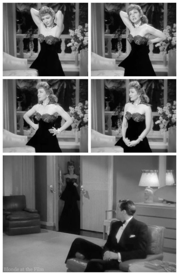 Palm Beach Story Claudette Colbert and Joel McCrea dress