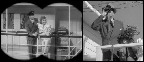 Palm Beach Story Claudette Colbert Joel McCrea binoculars