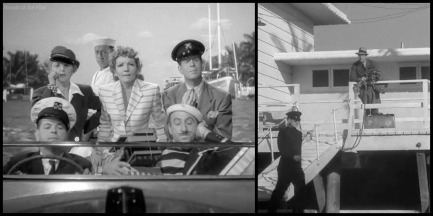 Palm Beach Story Claudette Colbert Joel McCrea dock