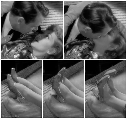 Palm Beach Story Claudette Colbert Joel McCrea kiss 2