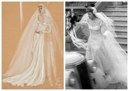 Palm Beach Story Claudette Colbert wedding dress