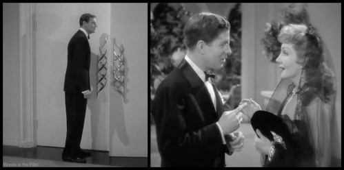Palm Beach Story Joel McCrea and Claudette Colbert eavesdropping
