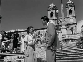 Roman Holiday Audrey Hepburn G Peck Spanish steps