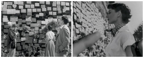 Roman Holiday Photo wish wall