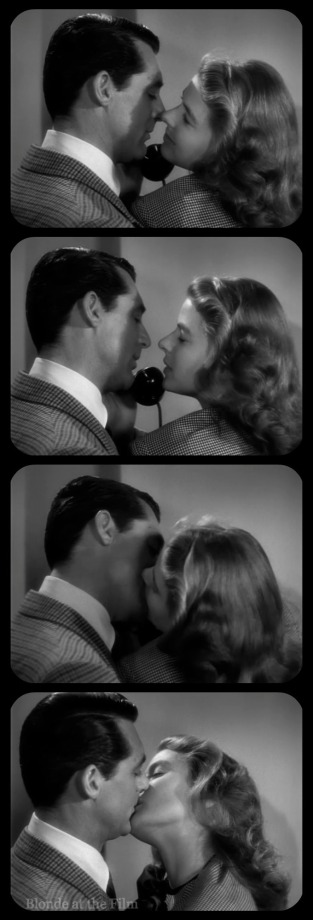 Notorious Cary Grant Ingrid Bergman telephone kiss