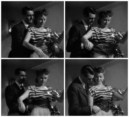 Notorious Cary Grant Ingrid Bergman tying scarf