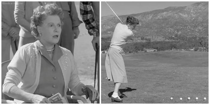 Pat and Mike Hepburn golfing