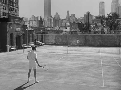 Pat and Mike Hepburn tennis