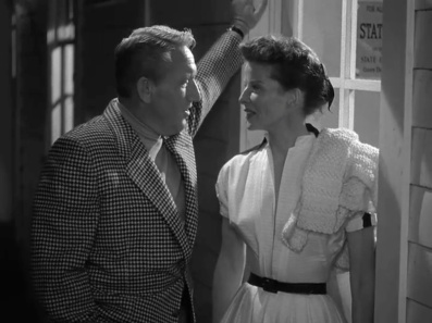 Pat and Mike Hepburn Tracy door