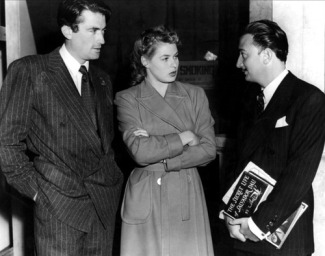 Peck, Bergman, and Dali on the set via: http://www.toutlecine.com/images/star/0007/00072097-ingrid-bergman.html