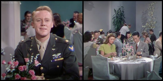 Thrill of a Romance Esther Williams and Van Johnson dining room