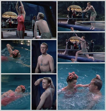 Thrill of a Romance Esther Williams and Van Johnson swimming lesson 2