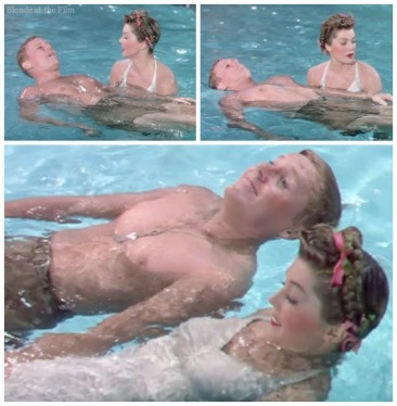Thrill of a Romance Esther Williams and Van Johnson swimming lesson