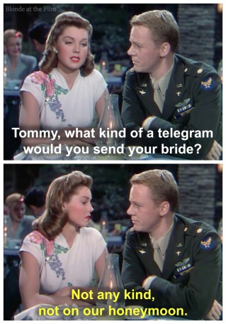 Thrill of a Romance Esther Williams and Van Johnson telegram