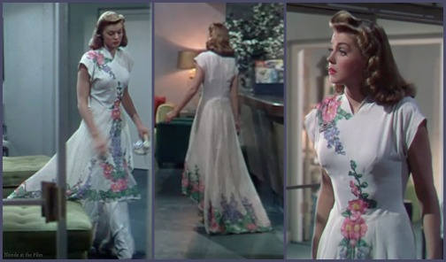 Thrill of a Romance Esther Williams white flower dress