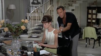 Paris When It Sizzles Hepburn Holden working
