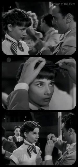 Roman Holiday Hepburn barber party