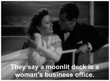 TheLadyEve Stanwyck Fonda moonlit deck