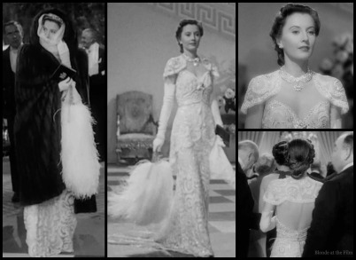 TheLadyEve Stanwyck white gown