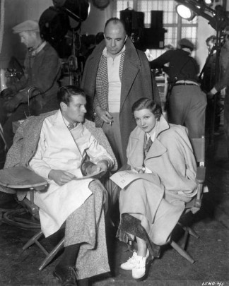 Joel McCrea, Gregory La Cava and Claudette Colbert on the set of Private Worlds (1935) via: http://acertaincinema.com/media-tags/gregory-la-cava/