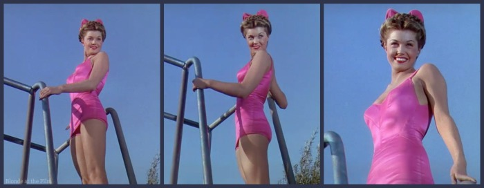 Bathing Beauty Williams pink suit board
