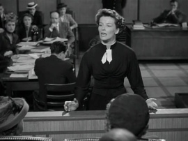 Hepburn as a lawyer in Adam's Rib