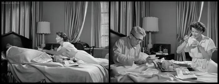 Adams Rib Tracy Hepburn bed