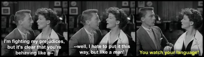 Adams Rib Wayne Hepburn man