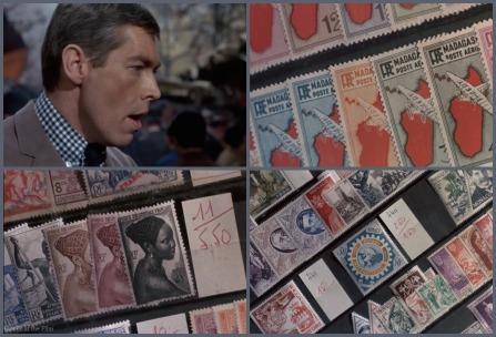 Charade Coburn stamps