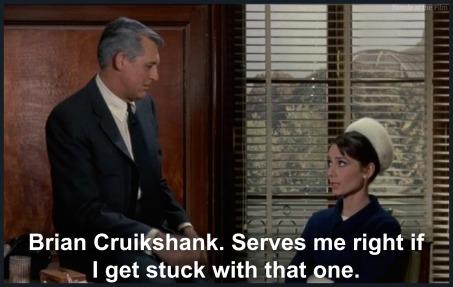 Charade Hepburn Grant Cruikshank