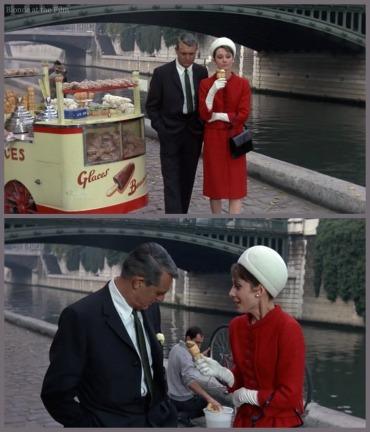 Charade Hepburn Grant ice cream