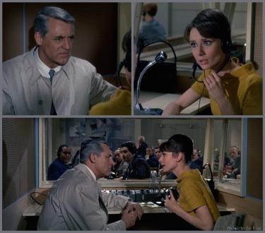 Charade Hepburn Grant job