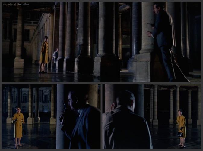 Charade Hepburn Grant Matthau colonnade