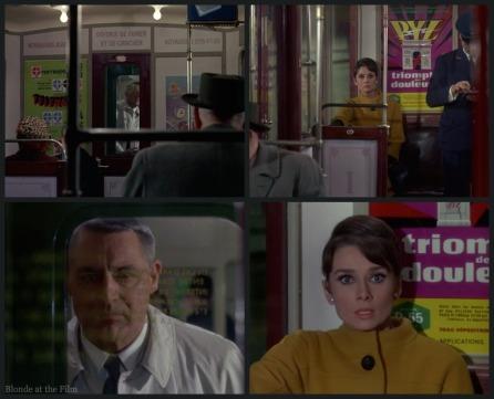 Charade Hepburn Grant metro