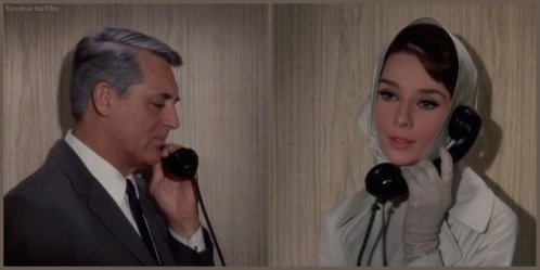 Charade Hepburn Grant phone