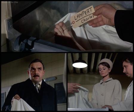 Charade Hepburn morgue