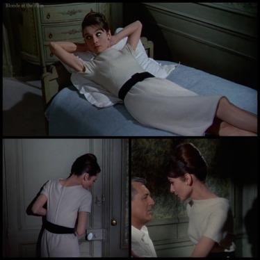 Charade Hepburn white dress