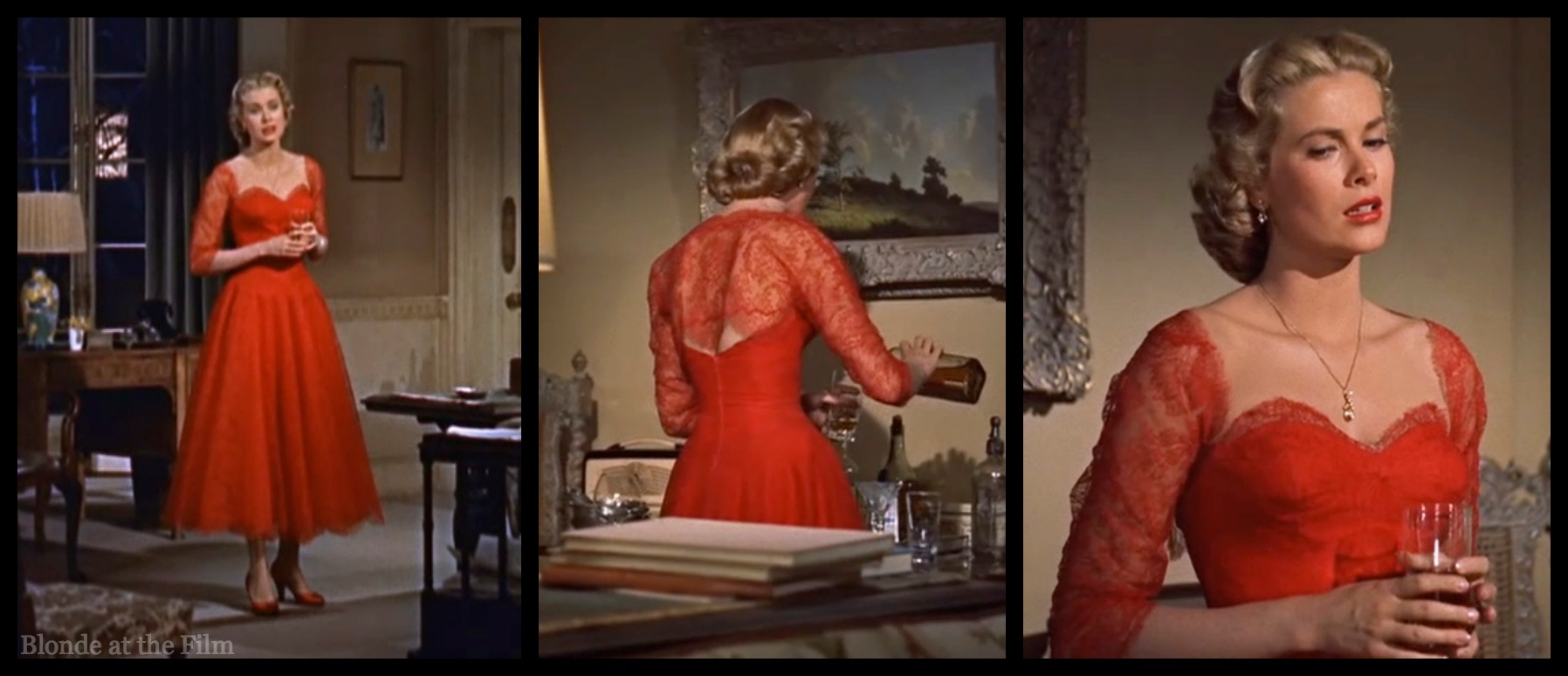 dial m for murder 1954 the blonde at the film dial m kelly red dress
