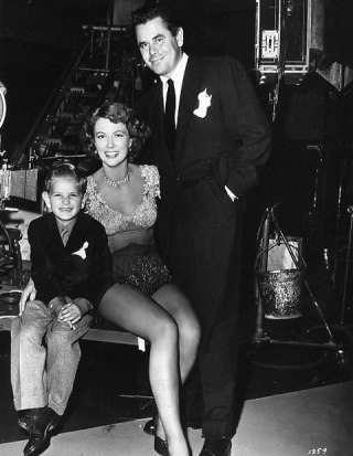 Glenn Ford and son Peter visit Eleanor Powell via: http://acertaincinema.com/media-tags/duchess-of-idaho/
