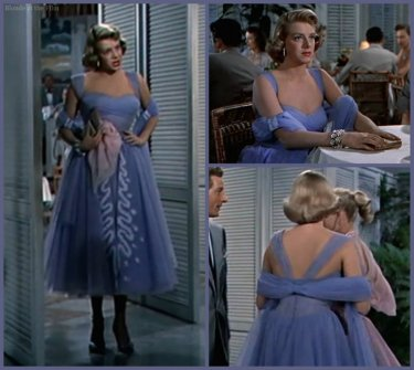 White Christmas Clooney blue dress