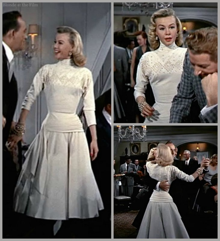 White Christmas Ellen white dress – The Blonde at the Film