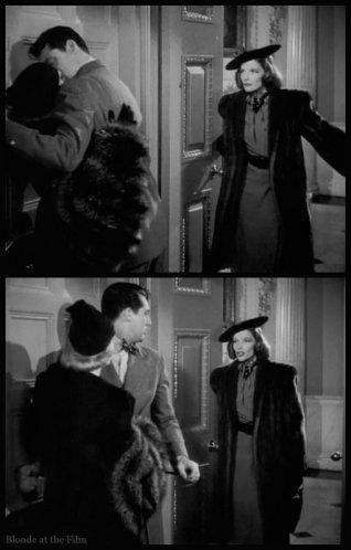 Holiday Grant Nolan Hepburn elevator kiss
