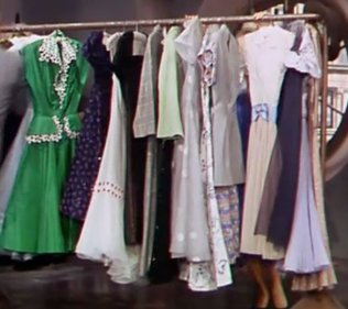 The rack of dresses in Lovely to Look At