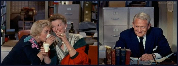 Desk Set Blondell Hepburn Tracy party