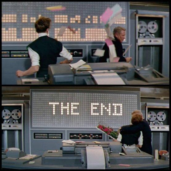 Desk Set Hepburn Tracy end
