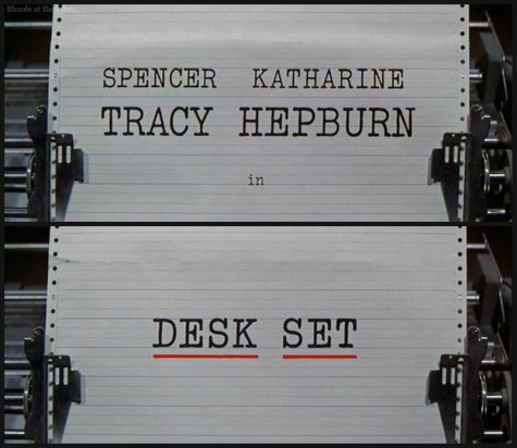 Desk Set titles