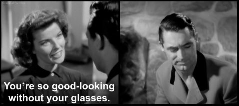 Bringing Up Baby Grant Hepburn glasses