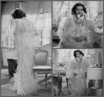 Bringing Up Baby Hepburn negligee
